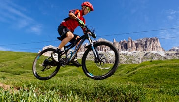 Mountainbike and bike